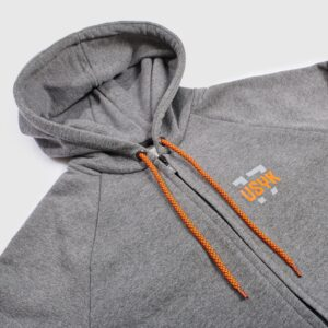 Hoody with zippers USYK-17 Movement Gray